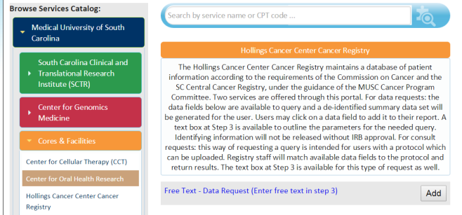 Hollings Cancer Center Registry